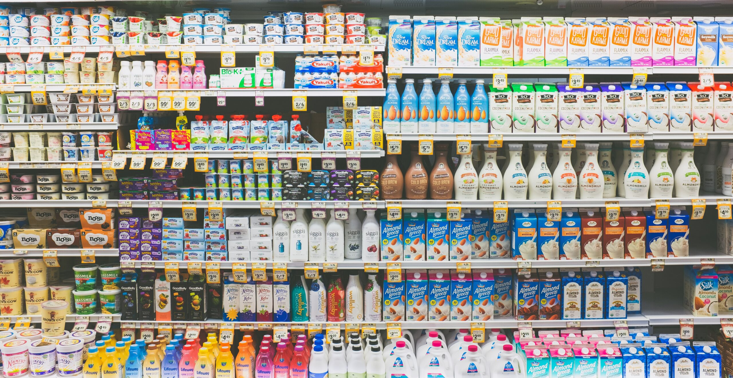 עיצוב ותכנון מינימרקט - מחלקת חלב