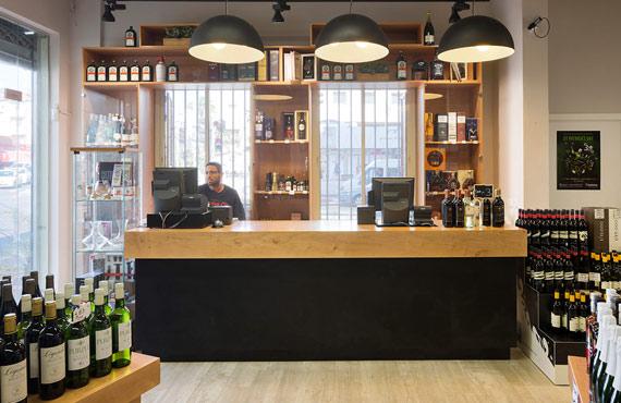 עיצוב חנות יין - טייטלמן משקאות