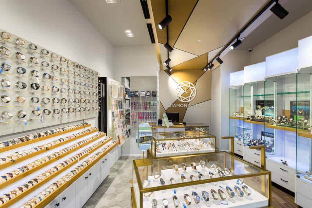 עיצוב חנות שעונים ותכשיטים